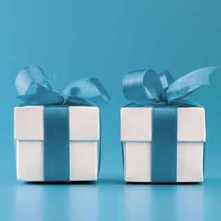 Two small gift boxes