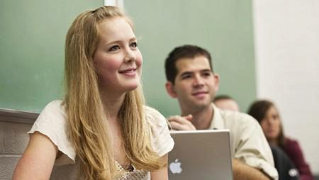 BYU students learning in classroom