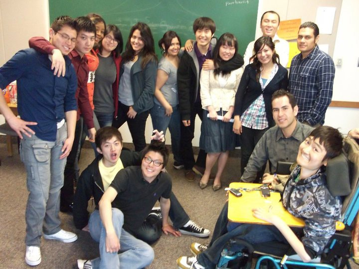 Dan Ito with a group of fellow students