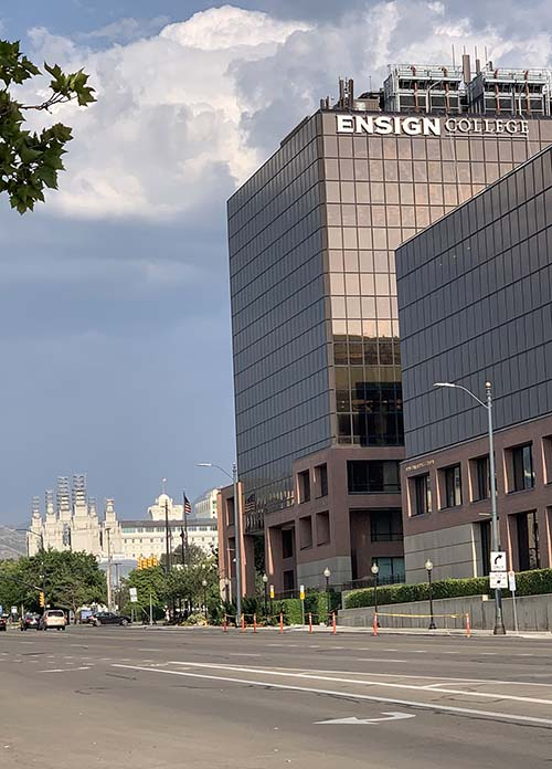 picture of the Ensign College Building in Salt Lake City, Utah