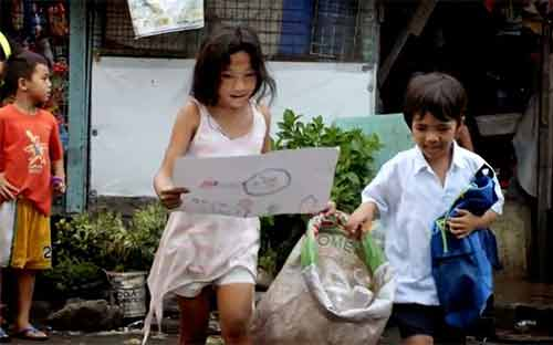 Children at school in the Philippines