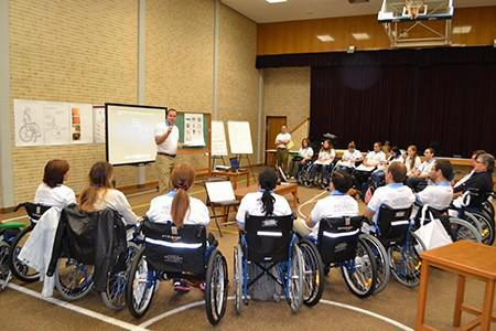 Wheelchair volunteers in Uruguay